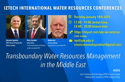İzmir Institute of Technology & Hydropolitics Academy to hold Webinar on  Transboundary Water Management in the Middle East.