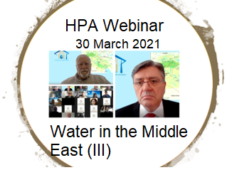 HPAs Webinar on Water in the Middle East ( III ) completed  30 March 2021