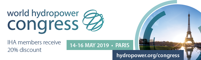 World Hydropower Congress 2019 opens in Paris next week